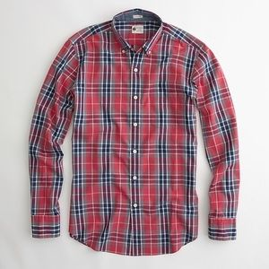 Men's J. Crew Washed Tartan Plaid Button-Down